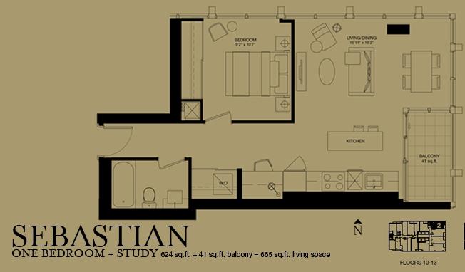 Bisha Sebastian 1bdr Study 624sqft Bisha Hotel Residences At 88 Blue Jays Way