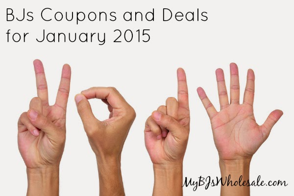 BJs Coupons and Deals for January 2015