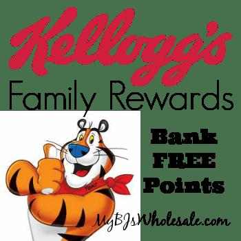 Kellogg's Family Rewards: Bank 75 Points