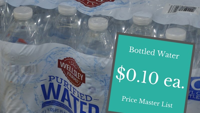 Bottled Water Prices at BJ's Wholesale Club