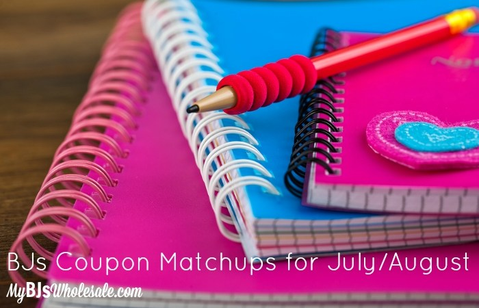 BJs Coupon Matchups for July/August