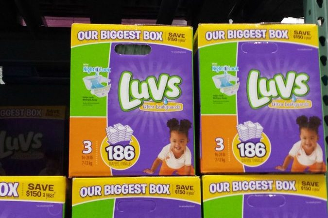 luvs diapers stock up