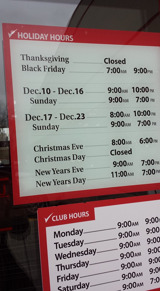 BJ's 2015 Holiday Hours | MY BJ'S WHOLESALE