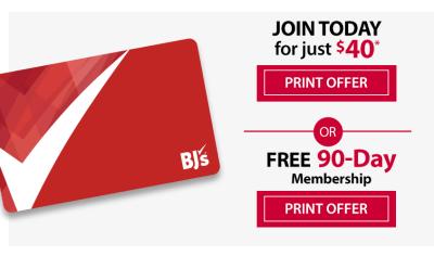 free bjs membership offer