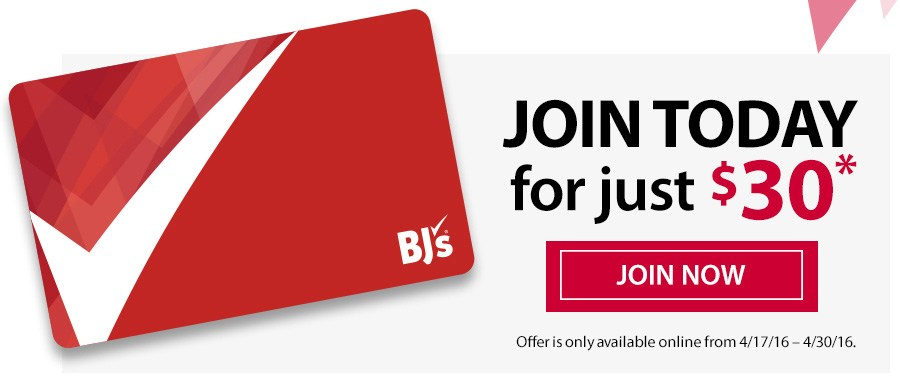 join bjs wholesale club for only $30 a year $20 less then original price