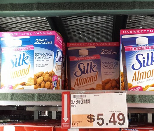 silk almond milk at bjs wholesale club