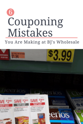 couponing mistakes at BJs Wholesale