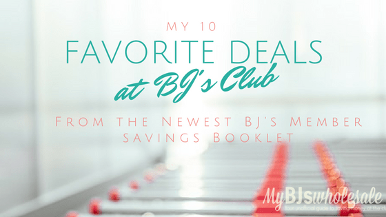 favorite deals at BJs wholesale club coupons