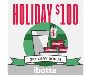 Ibotta Users get a $100 Holiday Bonus