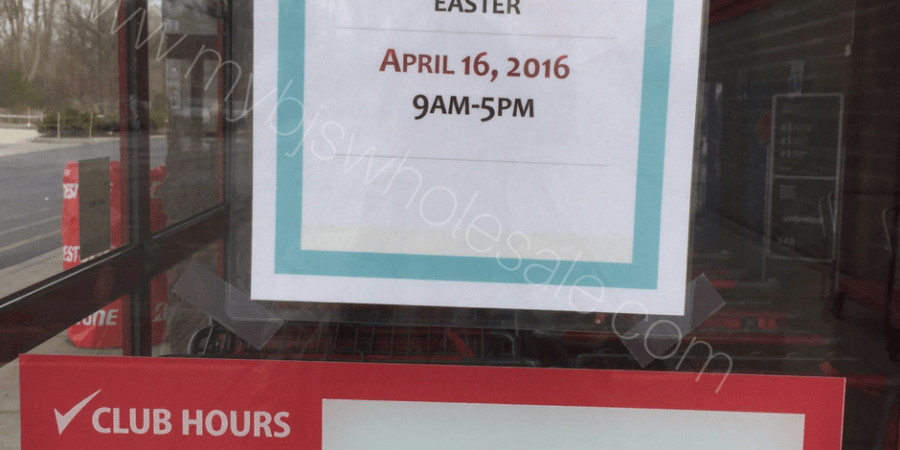 Is BJs Wholesale Club open on Easter Sunday