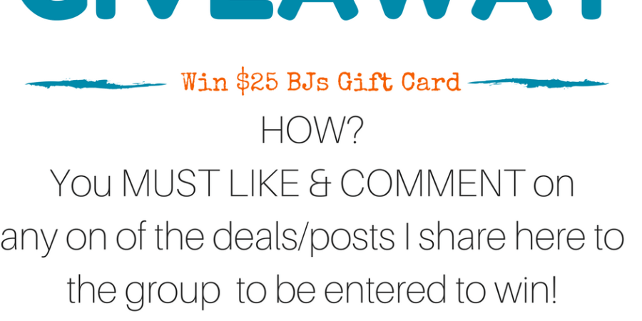 facebook group bjs giftcard giveaway