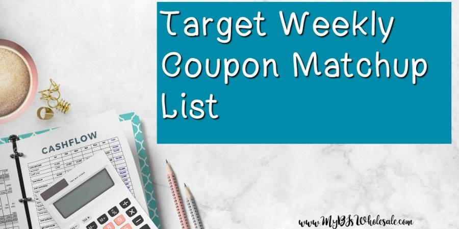 Target weekly coupon matchups