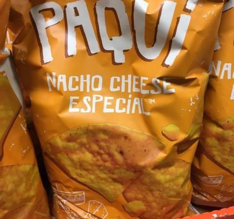 paqui natural nacho cheese chips at BJs
