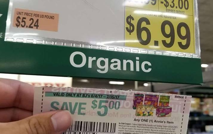 annie's organic chocolate chip granola bars