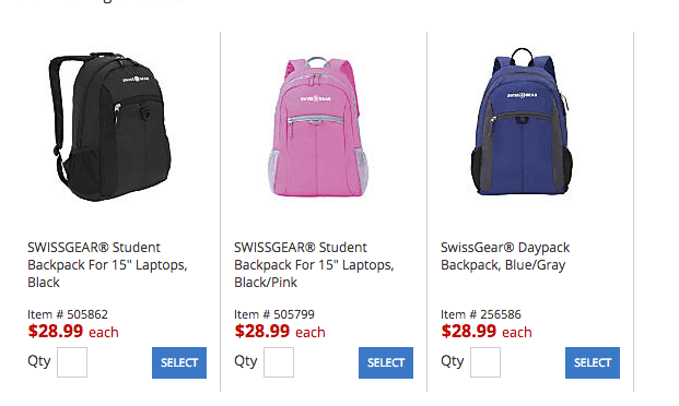 backpacks deal at officemax depot