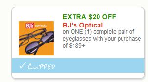 $20 Bjs optical coupon to print