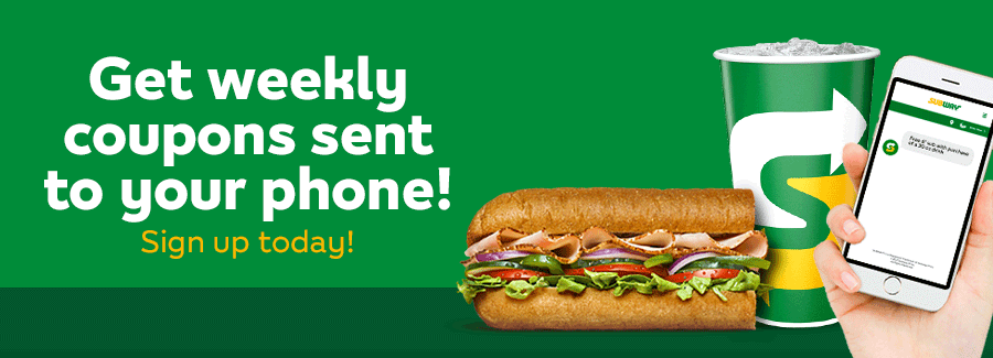 free sub at subway with text alerts