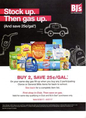 BJs Wholesale gas promotions savings