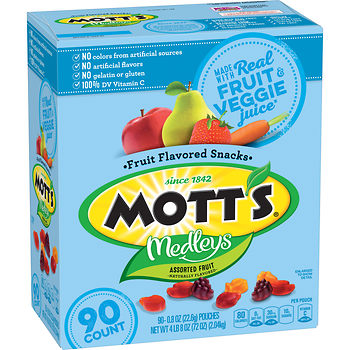 super deal on motts medley fruit snacks at BJs wholesale club price