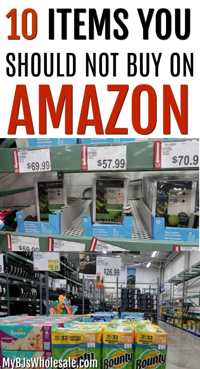 Ever wonder if you could get things cheaper on Amazon? Since Amazon's founder, Jeff Bezos is the richest man in the world, you have to think is it the cheapest? If you are a frugal person like me than you will want to get the best price for your favorite products. The more I shop at BJ's the more I fall in love. The deals seem to get better and better.  #savemoney #shopping #howto #savemoney #frugal #wholesaleclub #amazon #bjswholesale
