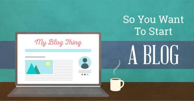 Start a blog