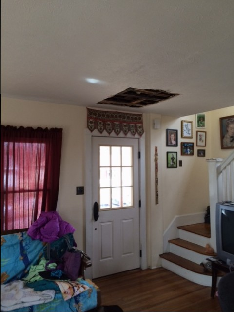 front door ceiling hole