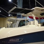 SureShade® Automated Sunshade on Boston Whaler at Miami Boat Show