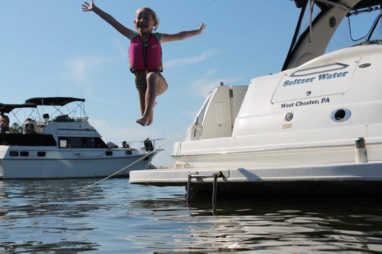 high swim platform jump
