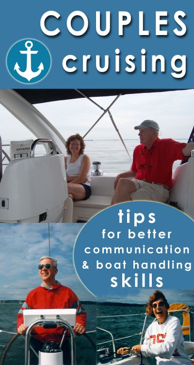 couples cruising communications boat handling skills