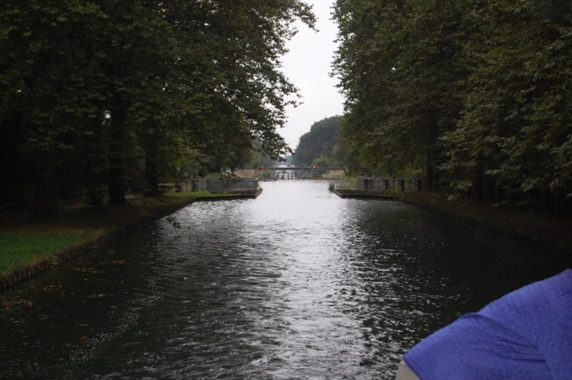 leaving canal lock