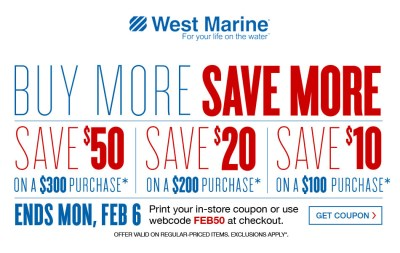 west marine sale