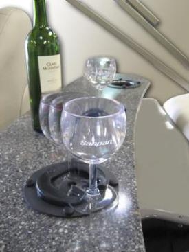 Slide in wine glass