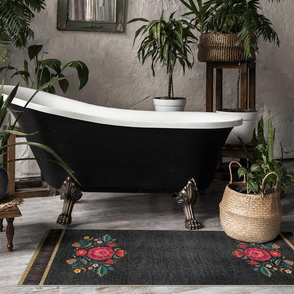 tapis vinyle salon cuisine ou couloir beija flor frida kahlo frd1