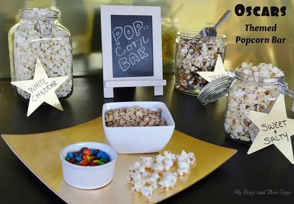 Oscars popcorn bar