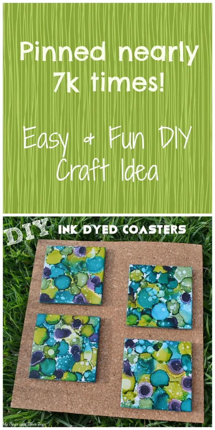 DIY ink coasters