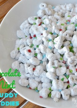 Chocolate Mint Muddy Buddies