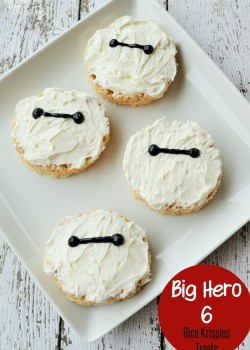 Baymax rice krispies treats