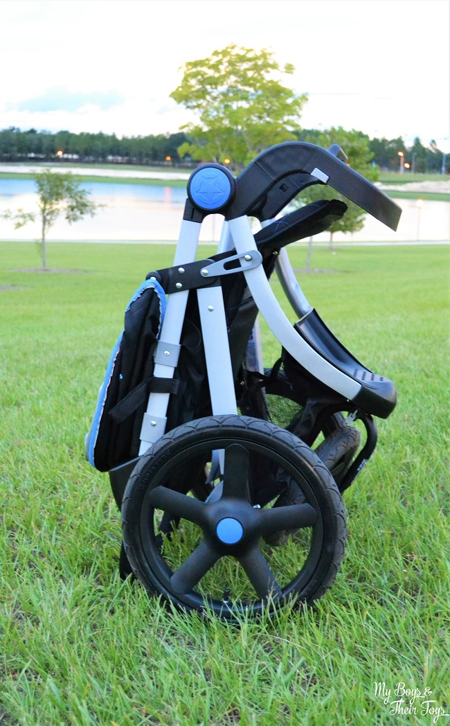 folded stroller