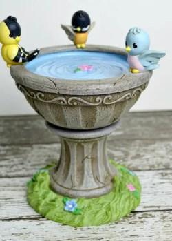 precious moments birdbath