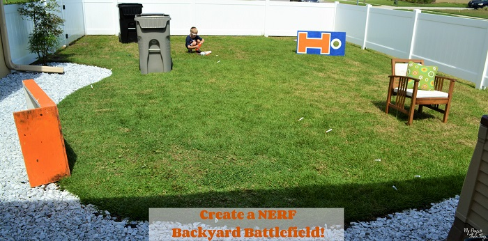 NERF backyard battlefield