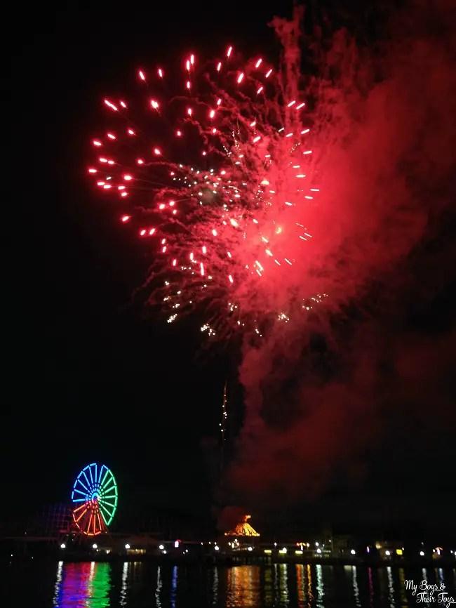 Fireworks at Indiana Beach