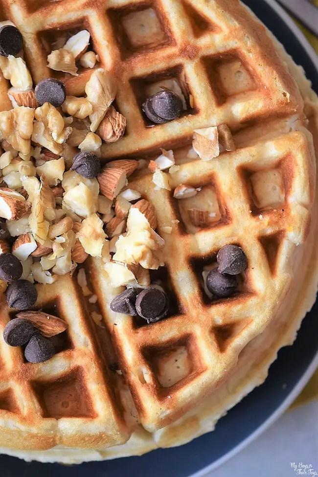 nutty homemade waffles