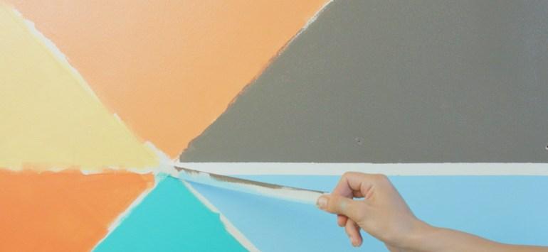 DIY Geometric Wall | Krafty Kriz