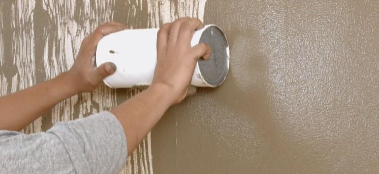 DIY Faux Wood Texture Wall | Krafty Kriz