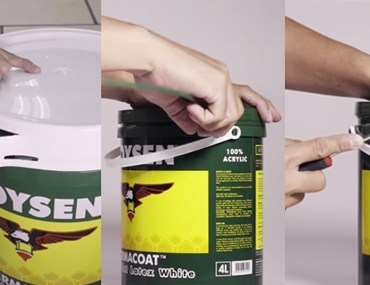 (VIDEO) How to Open A Boysen Plastic Can