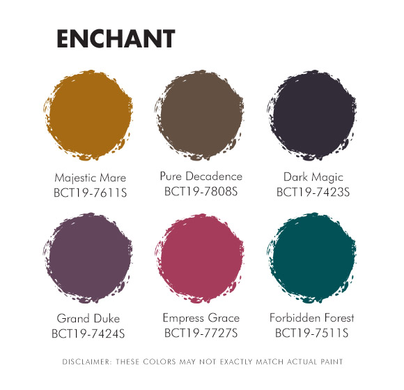 Color Trend 2019 Enchant Palette