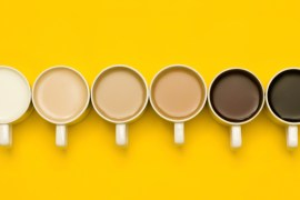 Different shades of coffee