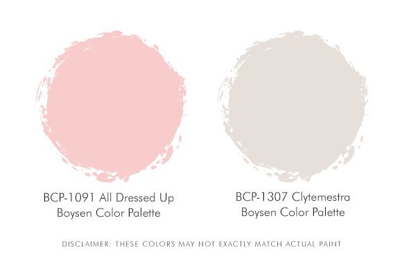 Boysen Palette Pink and White