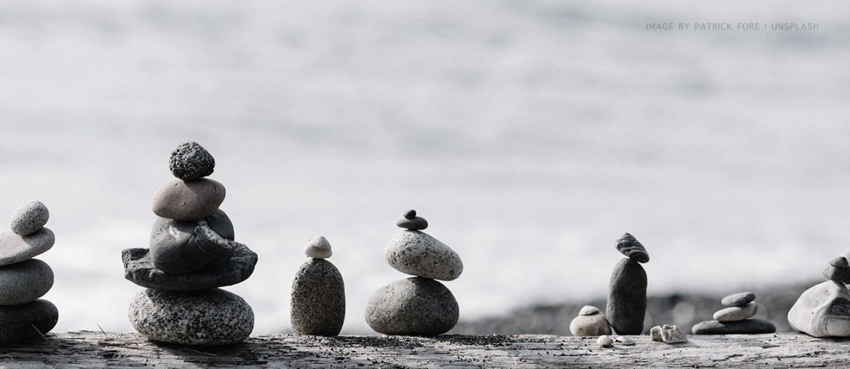 The Best Version of Hue : Grey Balanced rocks