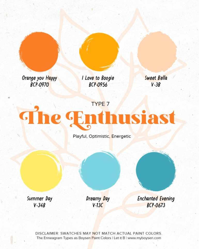 The Enneagram Types as Boysen Paint Colors | MyBoysen